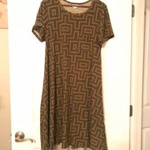 Lularoe Carly dress (olive)
